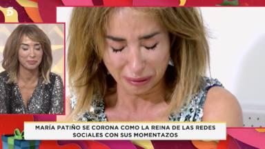 María Patiño no puede controlar su emoción al confesar algo importante