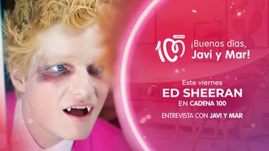 Ed Sheeran será entrevistado este viernes, 25 de junio, por Javi Nieves y Mar Amate en CADENA 100