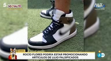 Rocío Flores con las zapatillas que le podrían costar una pena de cárcel por estafa