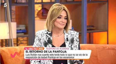 Toñi Moreno recibe una puñalada de José Antonio Avilés en directo en 'Viva la vida'