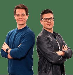 Christian Gálvez y Víctor Parrado